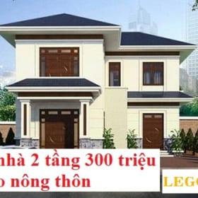 mẫu nhà 2 tầng 300 triệu ở nông thôn