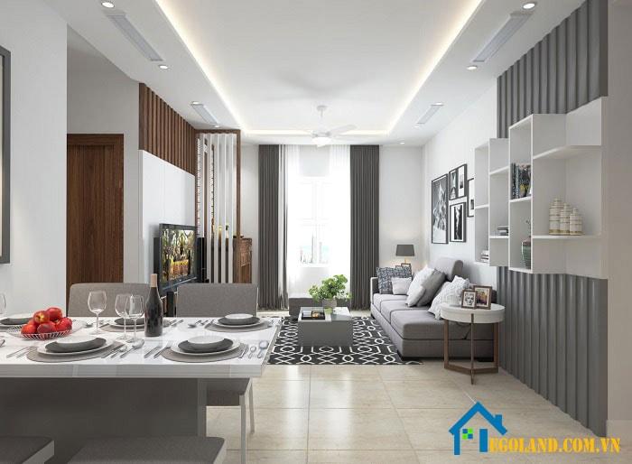 Mẫu 3 phòng khách cho chung cư