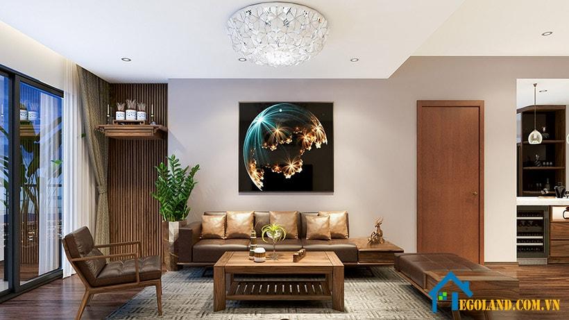 Mẫu 4 thiết kế nội phòng khách cho chung cư
