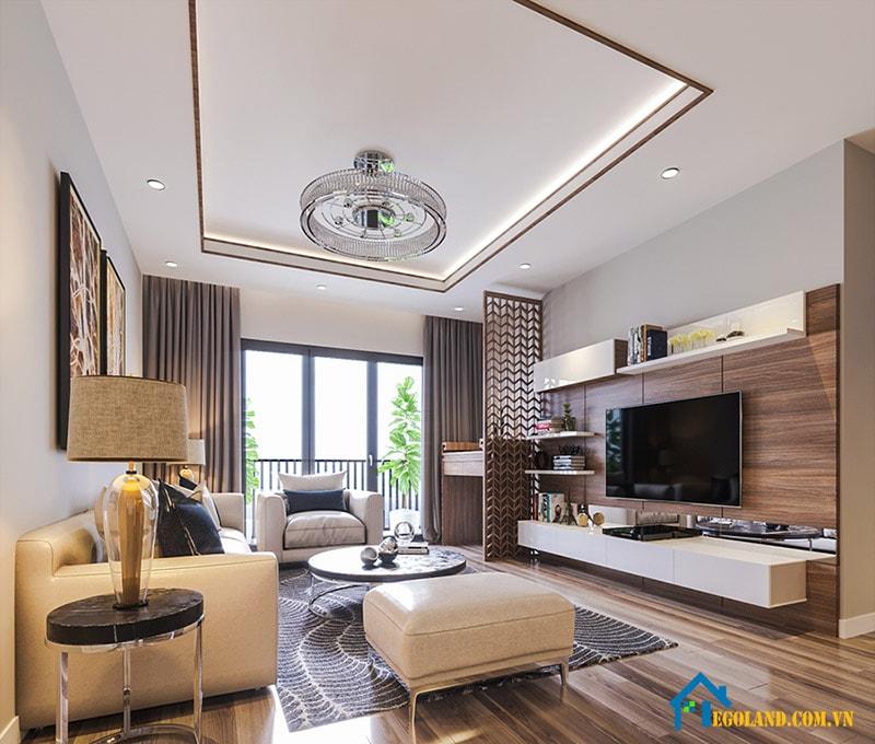 Mẫu 2 nội thất phòng khách sang trọng cho chung cư