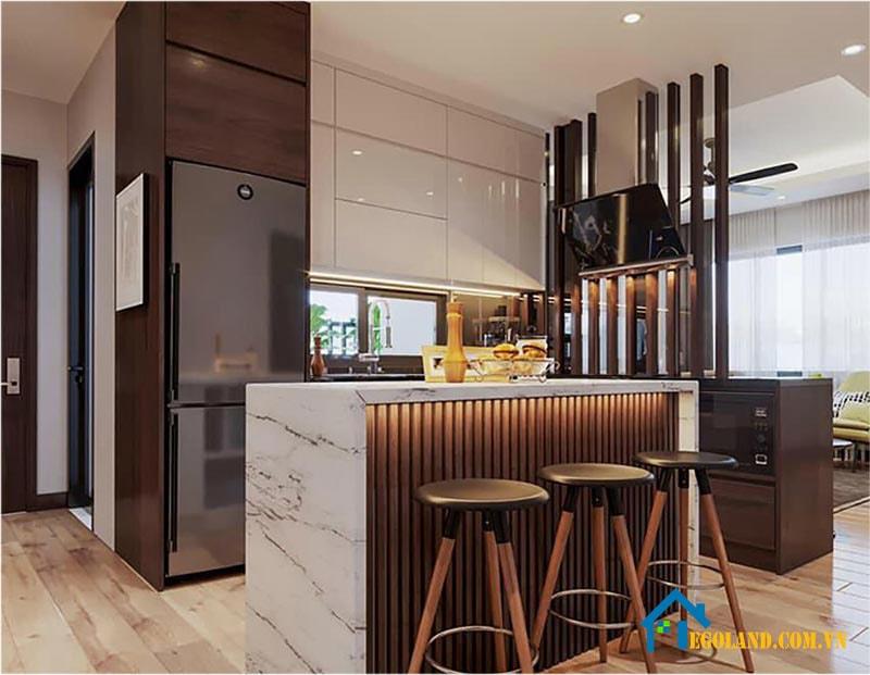 Mẫu 3 phòng bếp cho chung cư đẹp