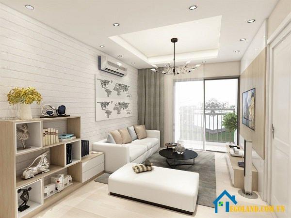 Mẫu 1 thiết kế nội phòng khách cho chung cư