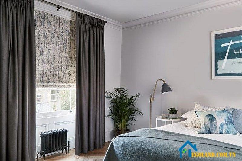 Tạo sự tinh tế cho không gian phòng ngủ bằng rèm cửa