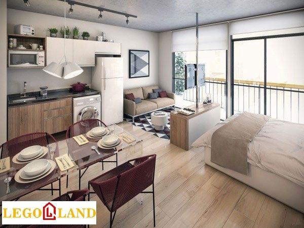 Thiết kế căn hộ studio theo phong cách sang trọng-min