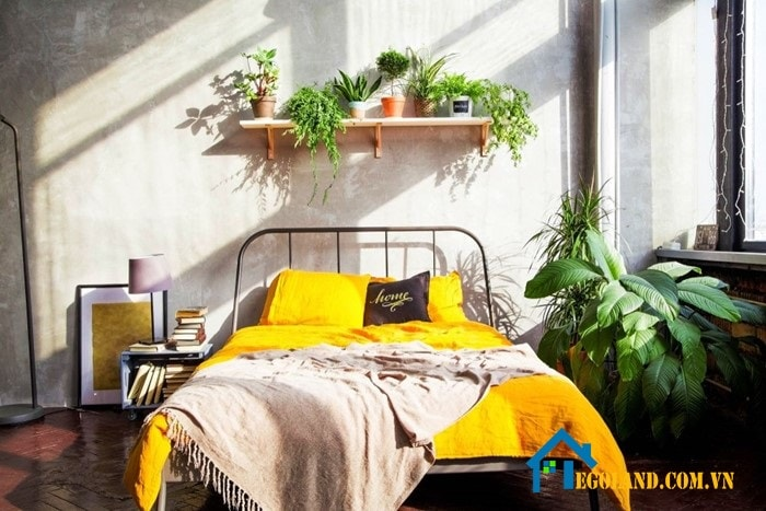 Trang trí phòng ngủ bằng hoa, cây xanh tự nhiên