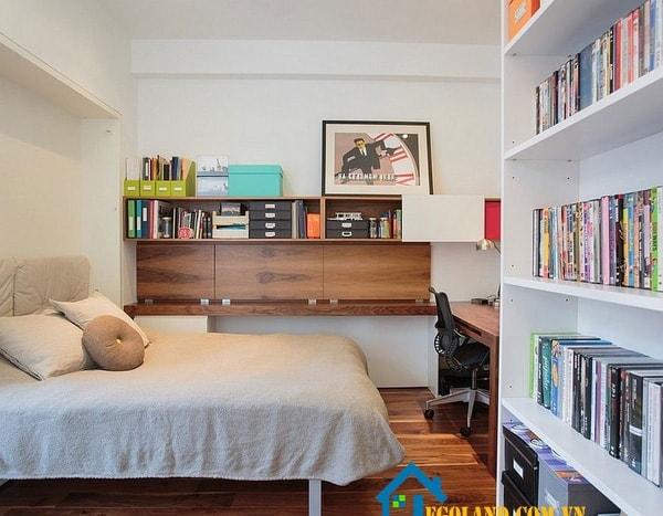 Trang trí phòng ngủ kết hợp phòng làm việc hiện đại