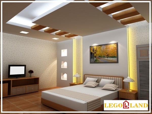 Mẫu trần thạch cao cho phòng ngủ hình bậc thang