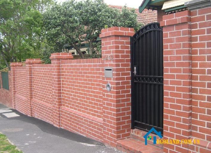 Mẫu tường rào gạch lỗ kín đáo