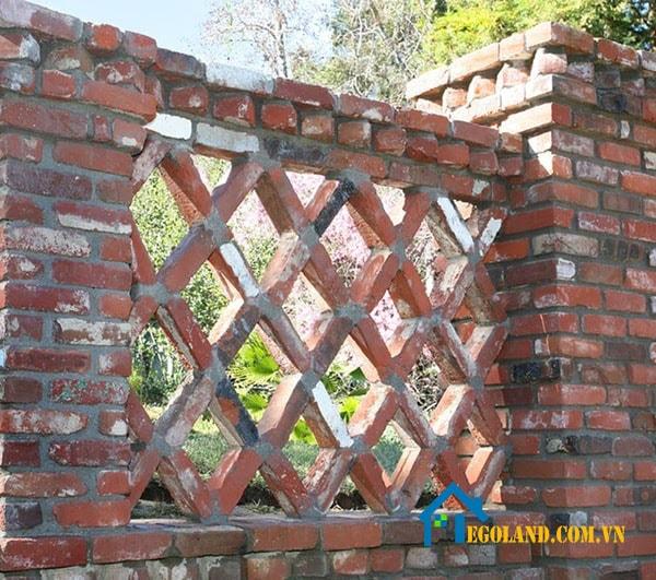 Mẫu tường rào kiểu ô cửa