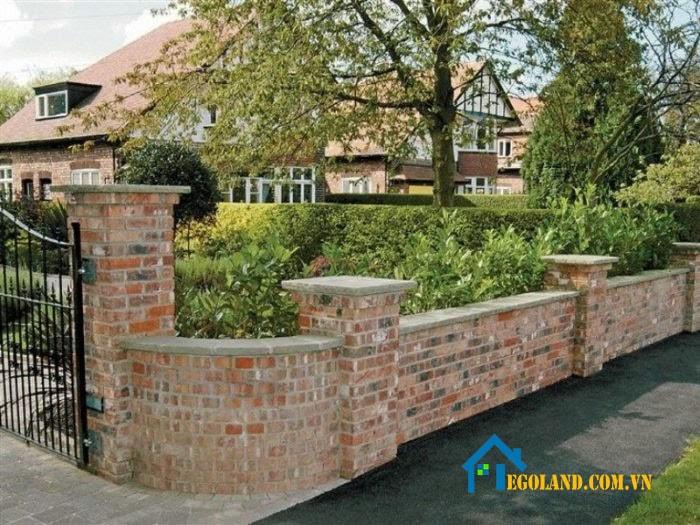 Mẫu tường rào kiểu cổ điển đồng quê