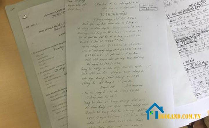 Mua nhà bằng giấy viết tay diễn ra khá phổ biến