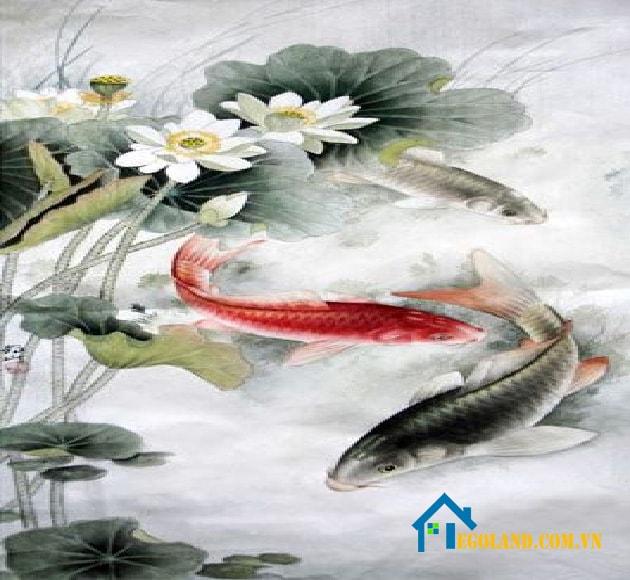 Tranh cá chép tuy mang đến vận may nhưng còn tùy thuộc vào tuổi tác của gia chủ