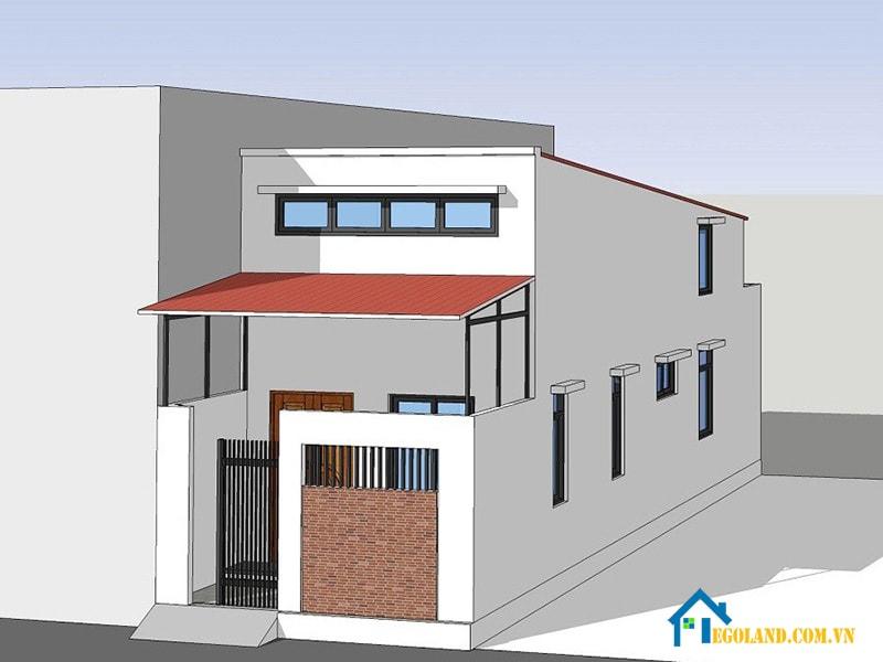 Bản mẫu thiết kế nhà cấp 4 mái thái tôn