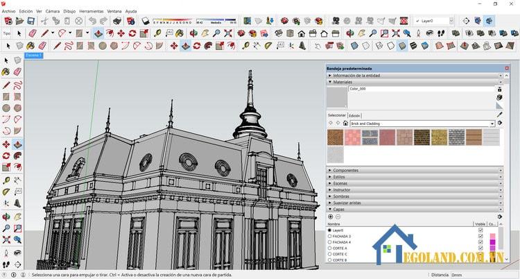 Sử dụng phần mềm Sketchup thiết kế nhà 3D