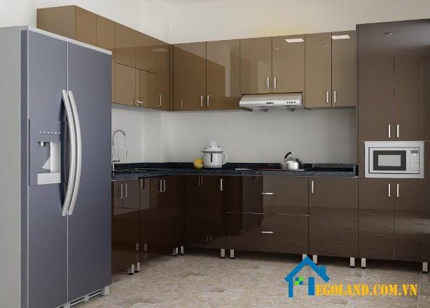 Loại tủ bếp inox cánh acrylic