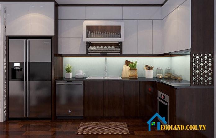 tủ bếp gỗ công nghiệp 1