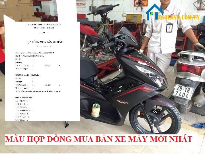 mẫu hợp đồng mua bán xe máy