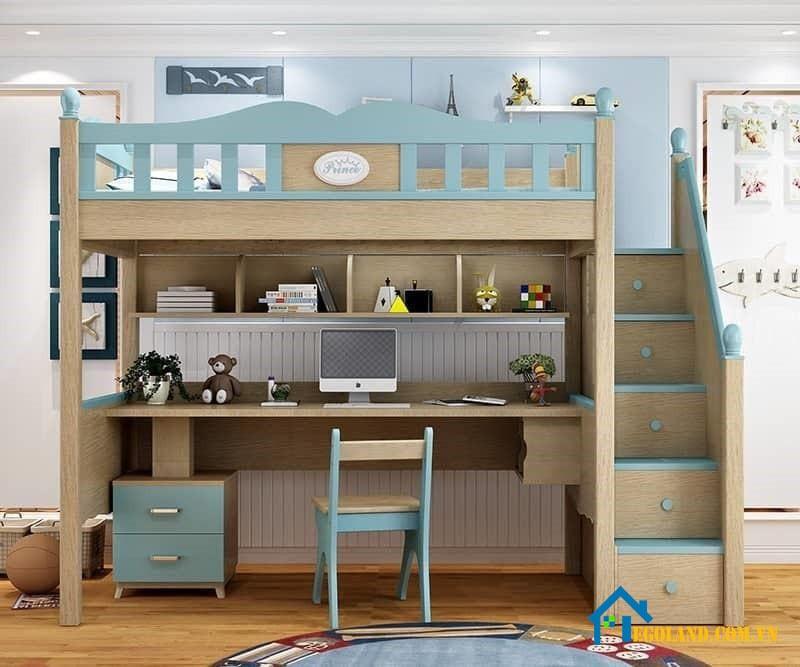 Giường tầng tích hợp nhiều chức năng