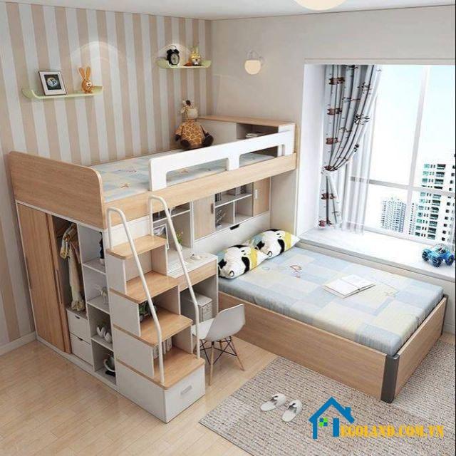 Giường tầng với thiết kế xếp thông minh
