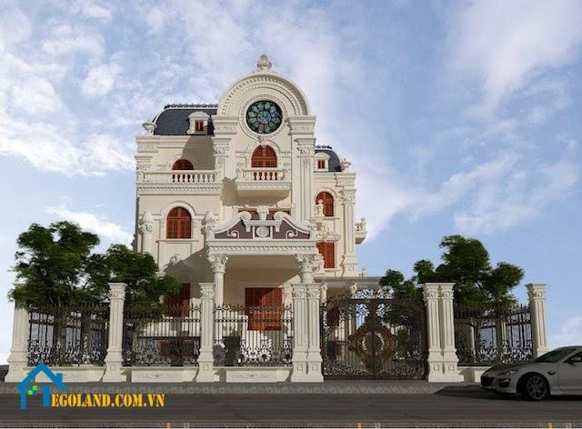 Mẫu biệt thự đơn lập có phong cách cổ điển