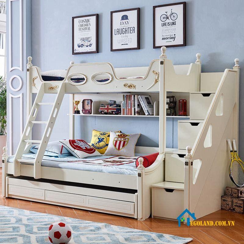 Mẫu giường tầng đa năng tích hợp ngăn kéo để đồ