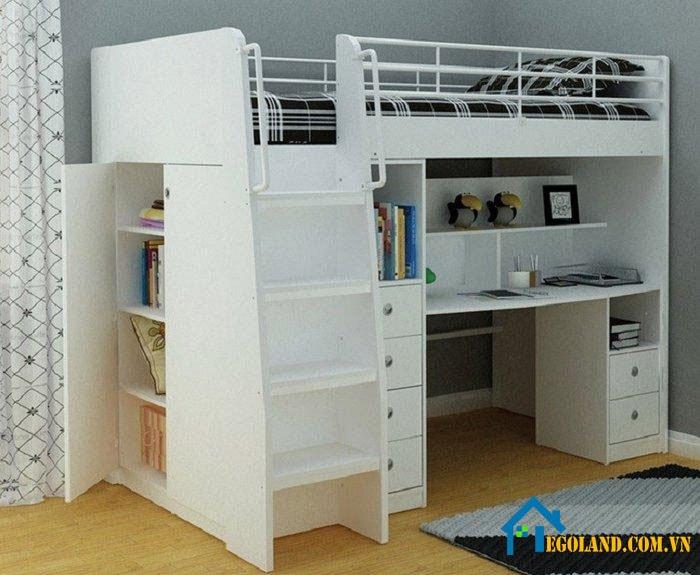Mẫu giường tầng kết hợp với bàn học