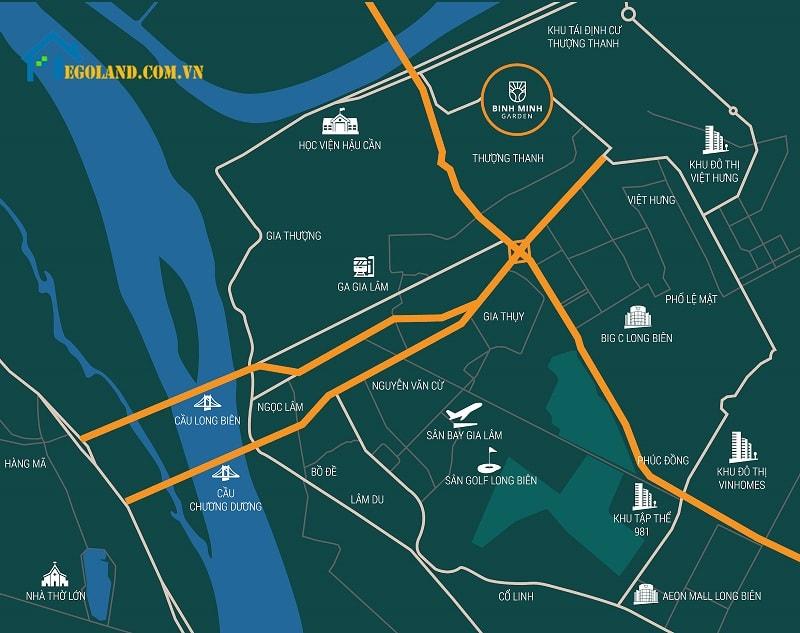 Tổng quan vị trí dự án Bình Minh garden
