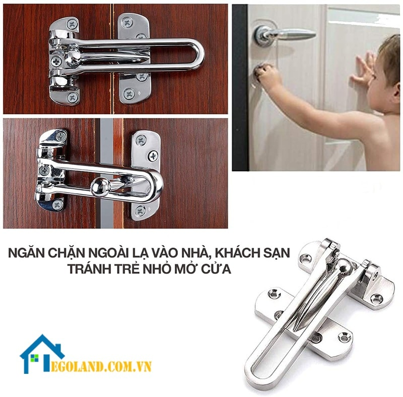 Chốt cửa an toàn là loại khóa có cấu tạo đơn giản, tiện dụng thuận lợi cho người dùng
