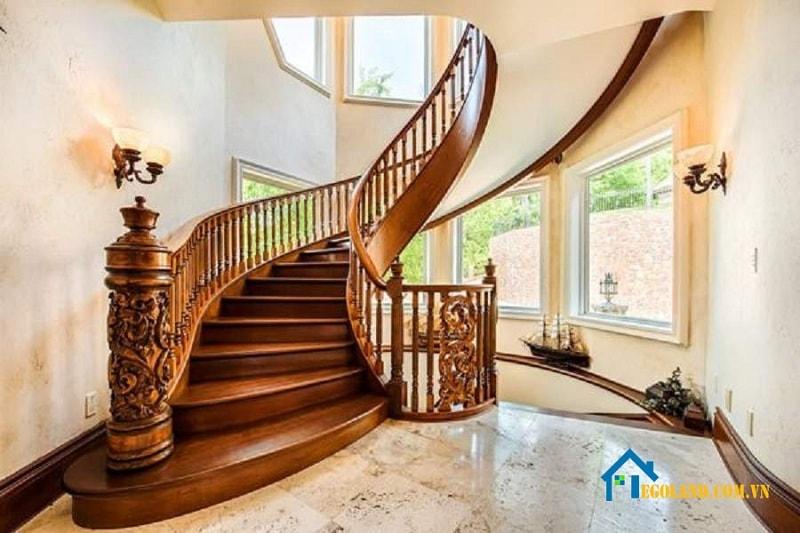 15+ mẫu cầu thang gỗ đẹp – độc – chắc chắn cho gia đình