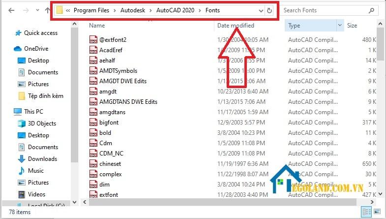 Cài Font AutoCad Full trên AutoCad 2013
