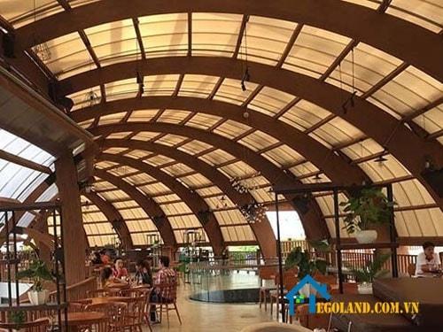 Mái vòm cho quán cafe
