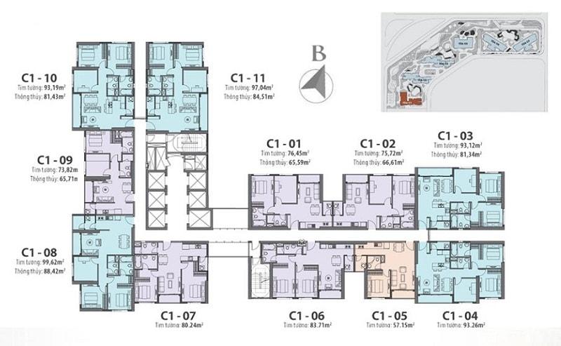 Tổng hợp 10 mẫu mặt bằng chung cư cao cấp có 1 không 2