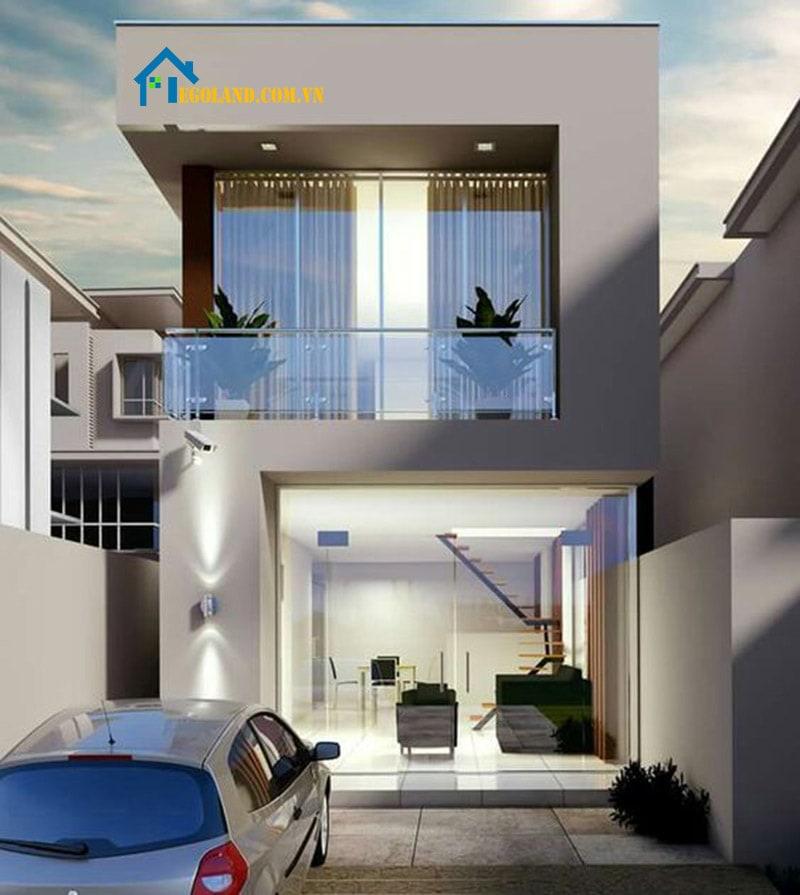 Mẫu 15 : Mẫu thiết kế nhà theo hình số 2