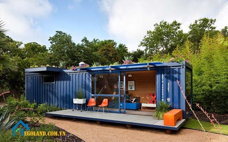 Nhà Container được tái sử dụng từ thùng Container để làm cốt
