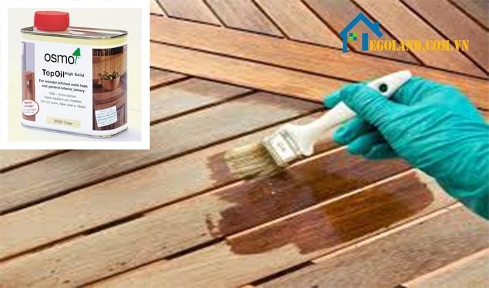 Sơn dầu được ứng dụng để tạo lớp phủ lên trên bề mặt của các sản phẩm gỗ