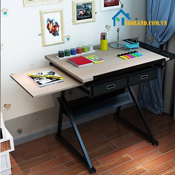 Thiết kế mặt phụ phía dưới mặt bàn nhằm giúp người dùng dễ dàng kéo ra khi cần