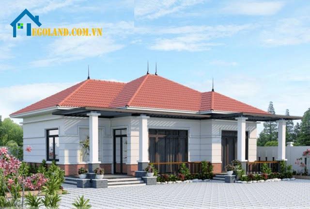 Mẫu thiết kế nhà phố mái thái