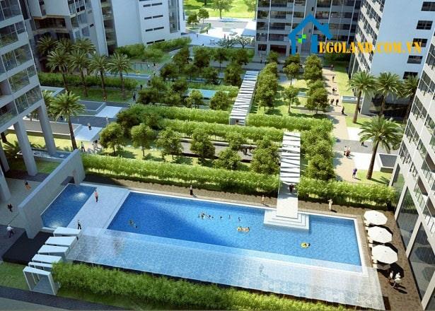 Dự án là tổ hợp những căn hộ chung cư, văn phòng, trung tâm thương mại