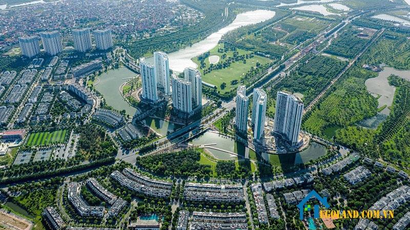 Ecopark là hệ thống căn hộ, biệt thự nghỉ dưỡng ven Hà Nội