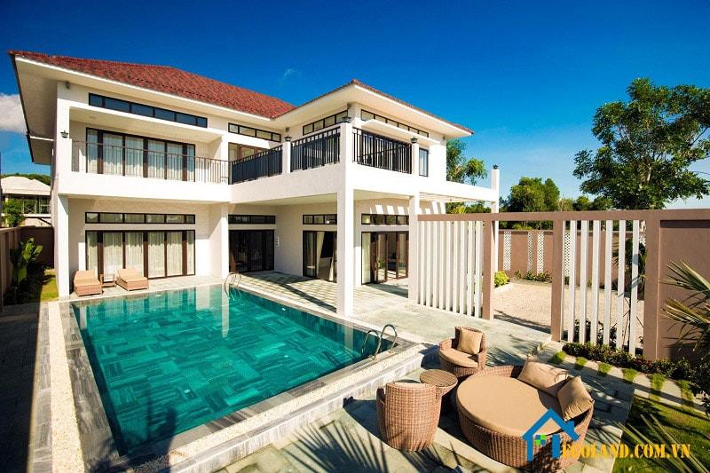 Khu Villa được trang bị đầy đủ tiện nghi
