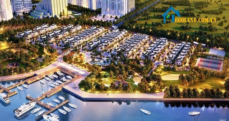 Khu biệt thự là bộ phận thuộc dự án Vinhomes Central Park rộng 43ha