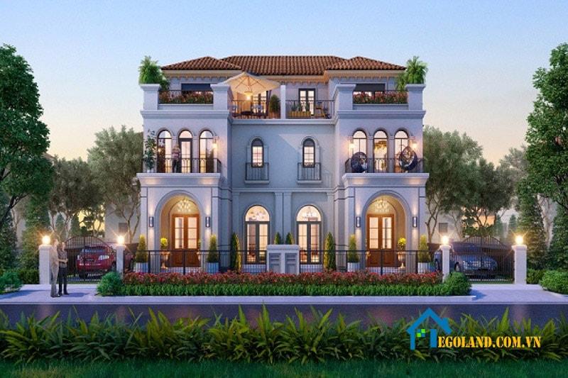 Mẫu biệt thự song lập theo phong cách Địa Trung Hải chắc chắn sẽ khiến cho gia chủ hài lòng