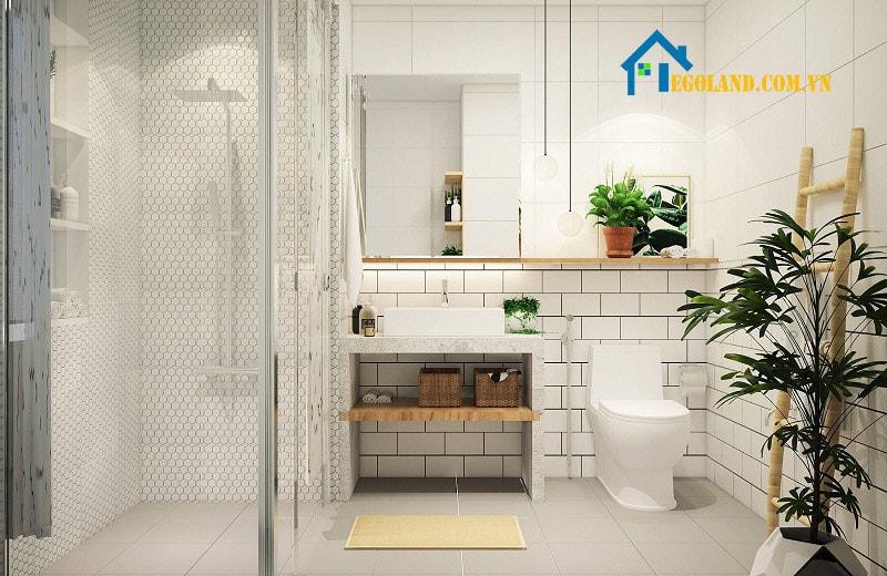 Mẫu nhà vệ sinh thiết kế hài hòa với thiên nhiên tạo nên cho người bước vào sự thoải mái nhất