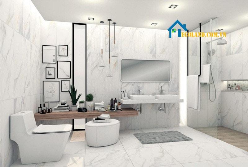 Mẫu thiết kế phòng vệ sinh đẹp, sang trọng dành cho biệt thự