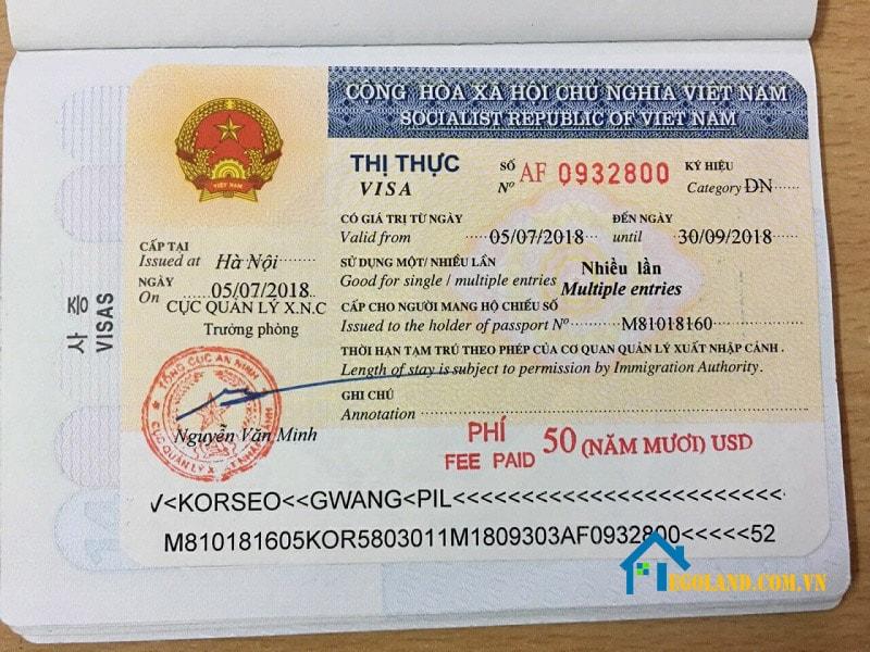 Thị thực là một loại giấy tờ hợp pháp để xuất nhập cảnh sang quốc gia khác