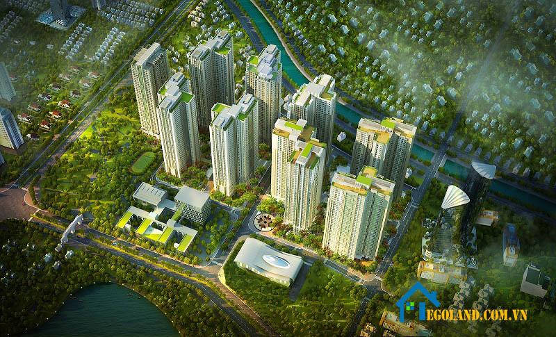 Tổ hợp căn hộ chung cư Goldmark City nằm trên đường Hồ Tùng Mậu