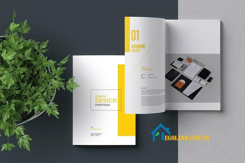 10 brochure template siêu đẹp cho dân thiết kế - Mẫu Creative portfolio