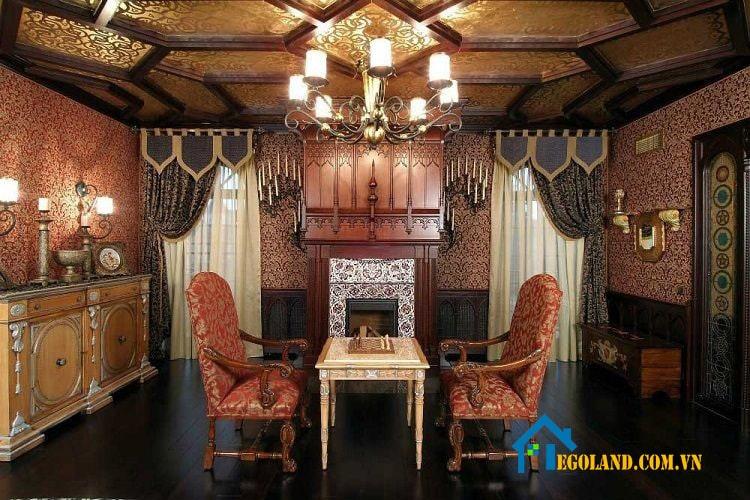 Gothic cũng được rất nhiều kiến trúc sư lựa chọn làm phong cách thiết kế nội thất