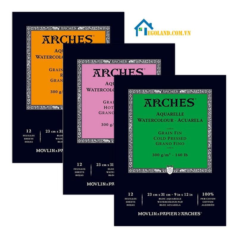 Hãng Arches cam kết về chất lượng giấy của họ hoàn toàn không chứa axit, không chứa chất làm sáng quang học
