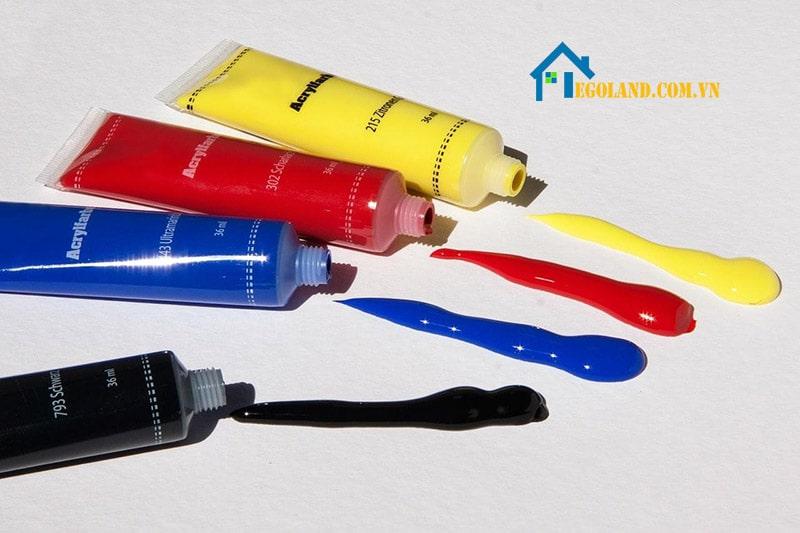 Màu Acrylic được tạo nên từ những thành phần an toàn với sức khỏe và môi trường